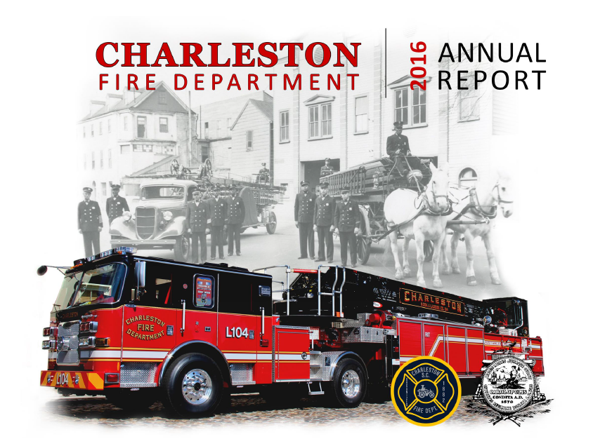 Charleston Fire Department 2016 Annual Report Cover Opens in new window