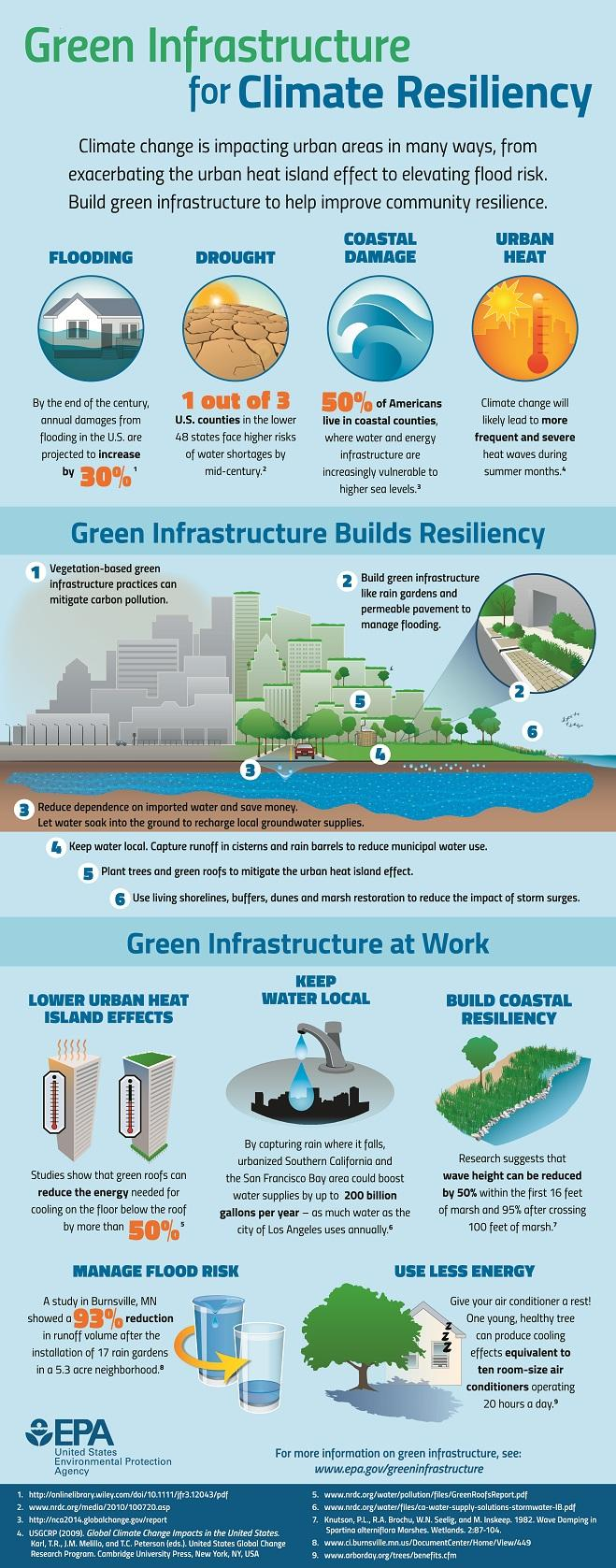 Green Infrastructure for Climate Resiliency Informational Flyer