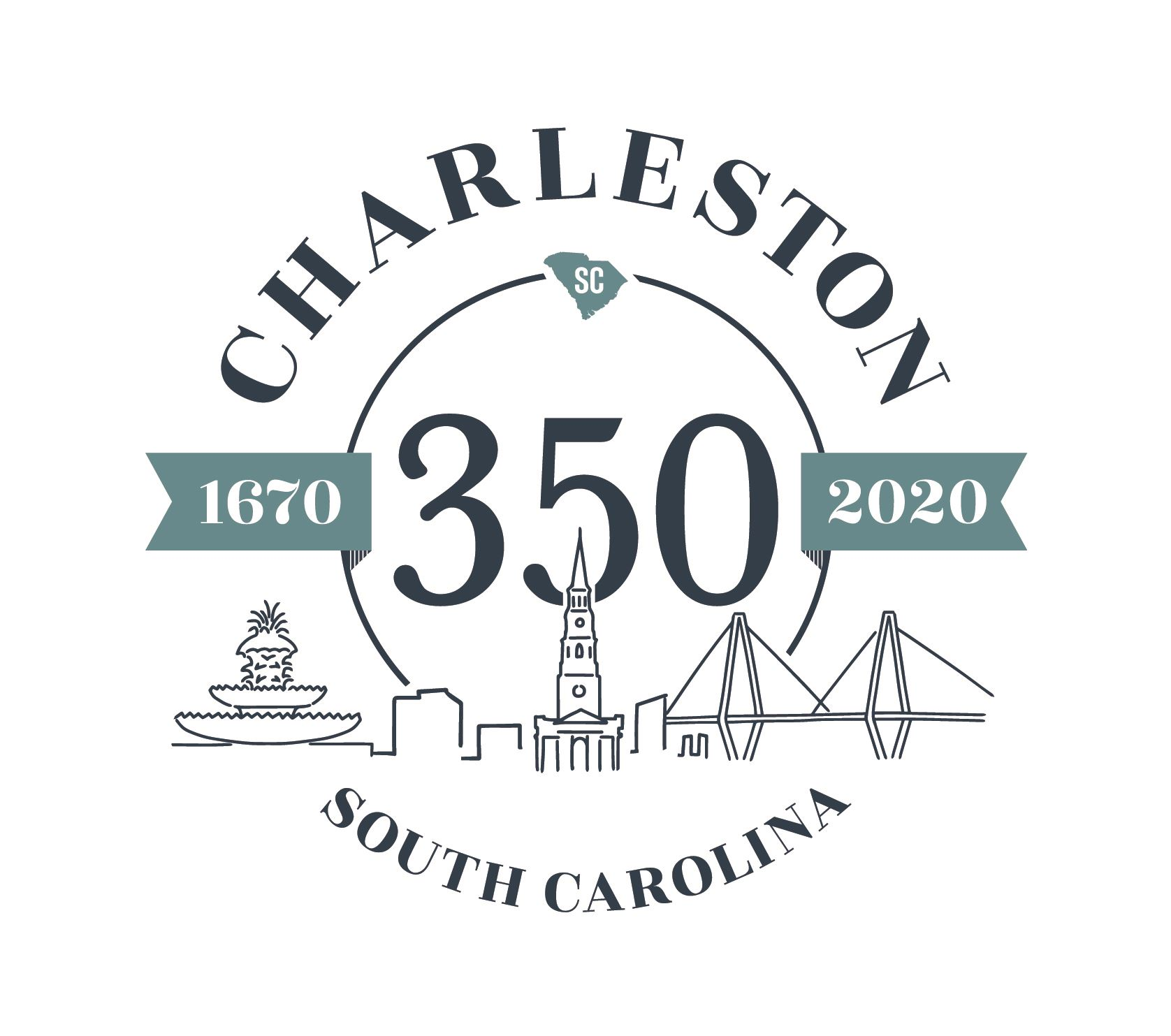 18-SCP-2528-Charleston-350-Anniversary-Logo-MECH-Color