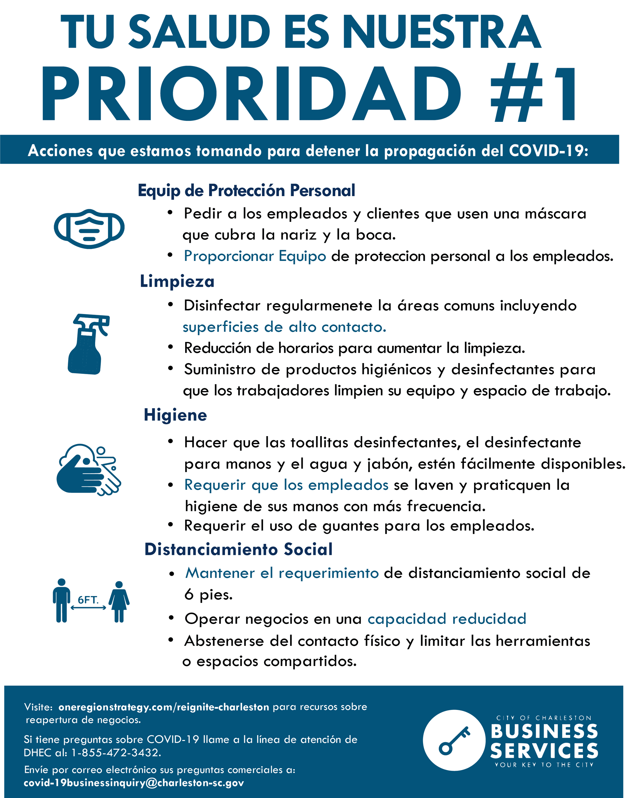 Spanish - Business Actions Flyer