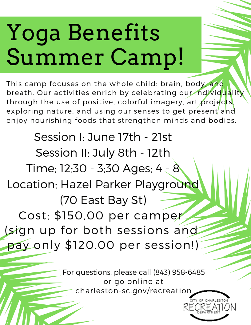 Yoga Benefits Summer Camp!