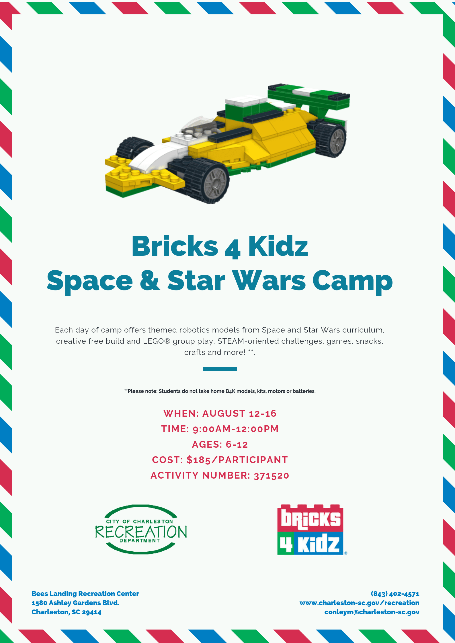 Bricks 4 Kidz Camp Space Star Wars
