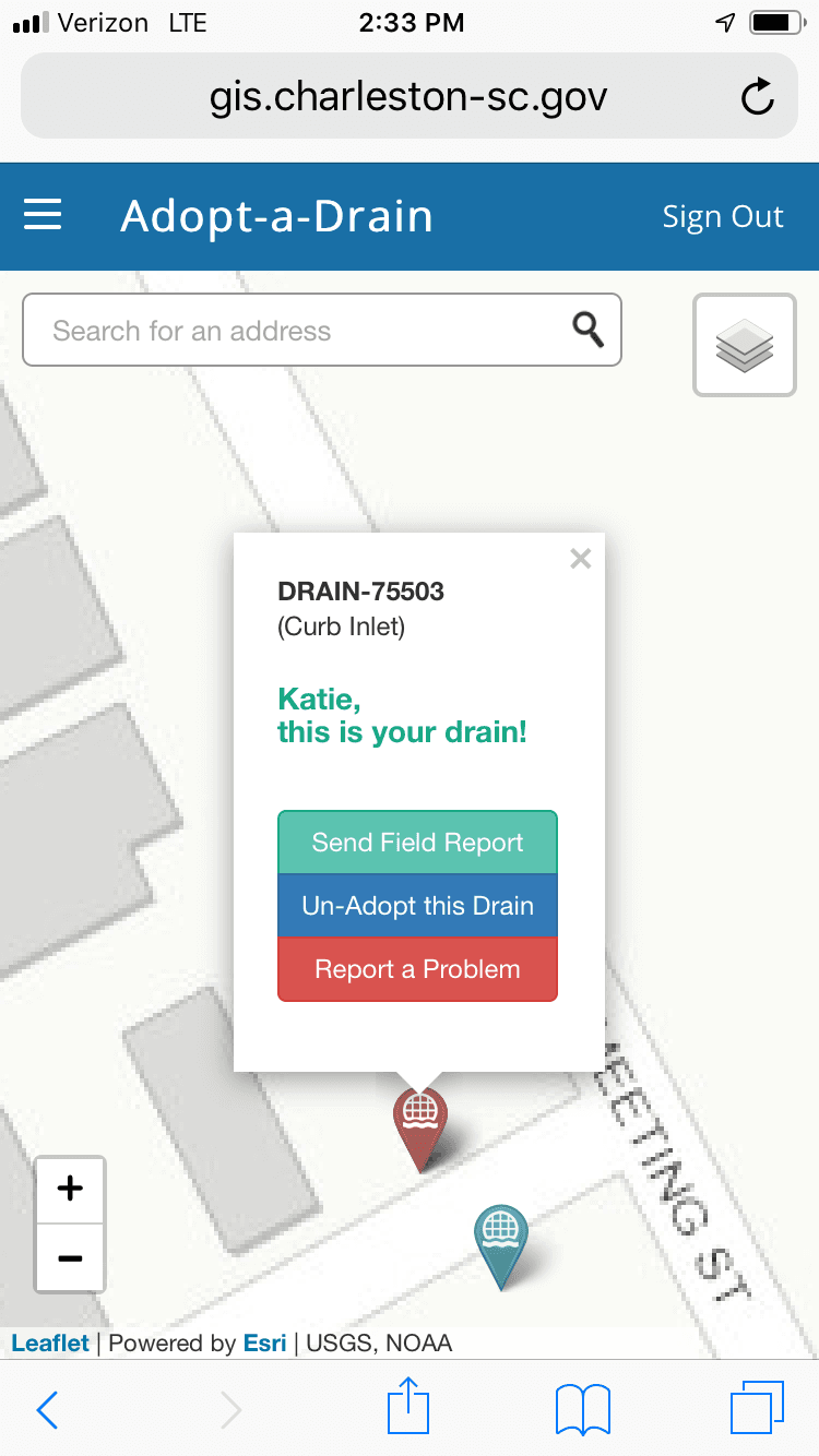 Mobile Phone image showing where to click to Send Field Report