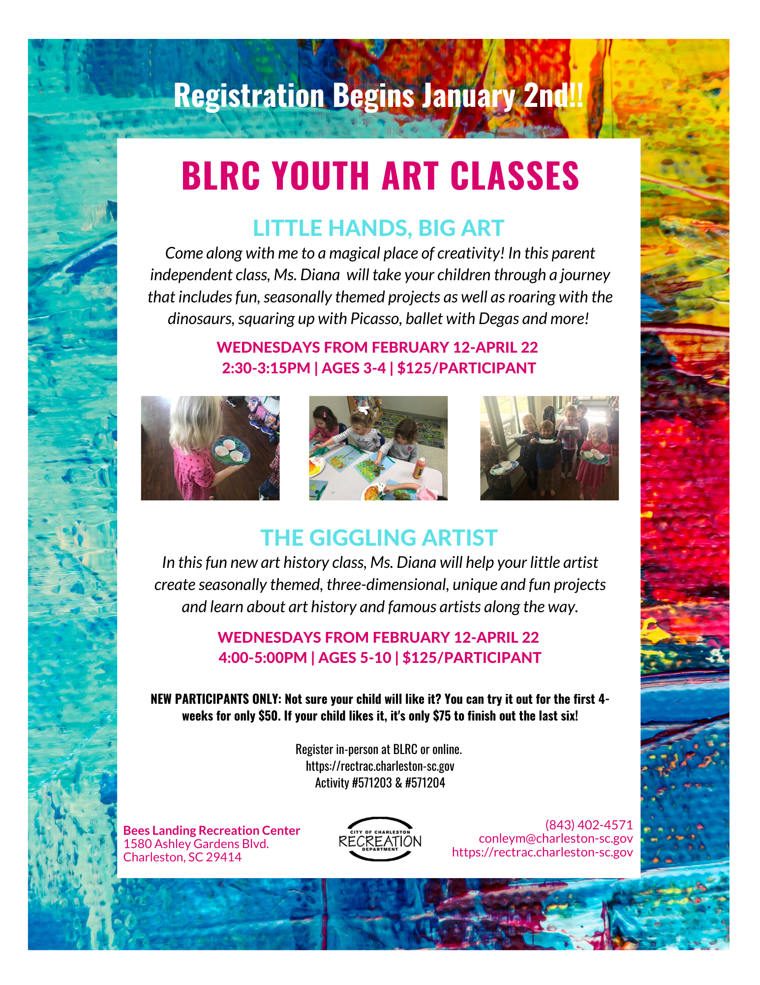 BLRC Spring Art Flyer Opens in new window