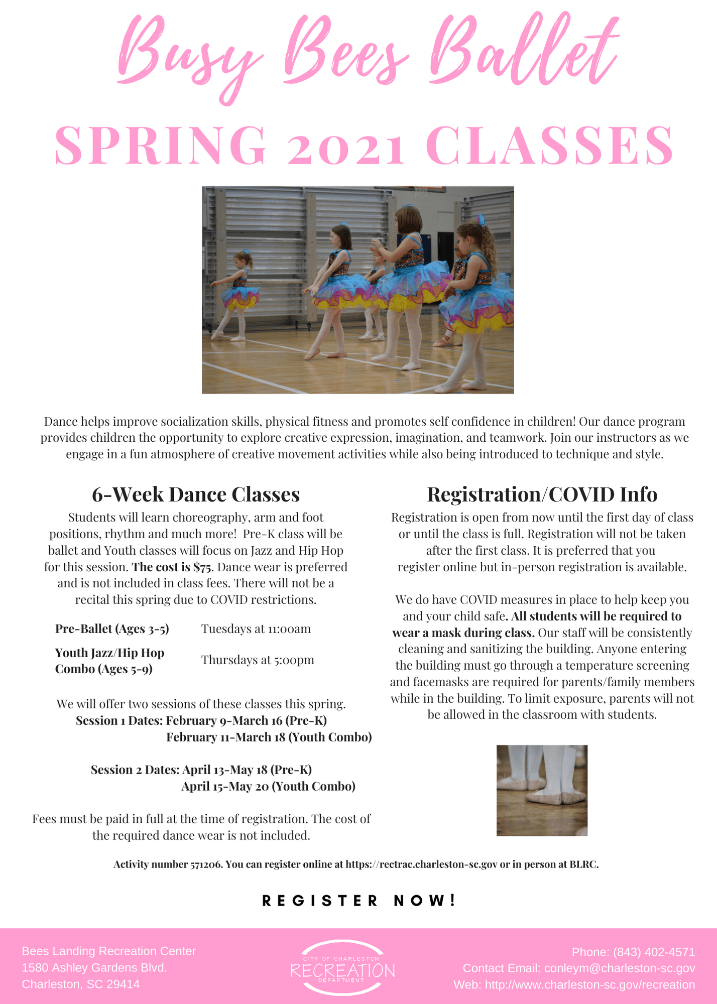 Busy Bees Ballet Spring 2021 Classes Opens in new window