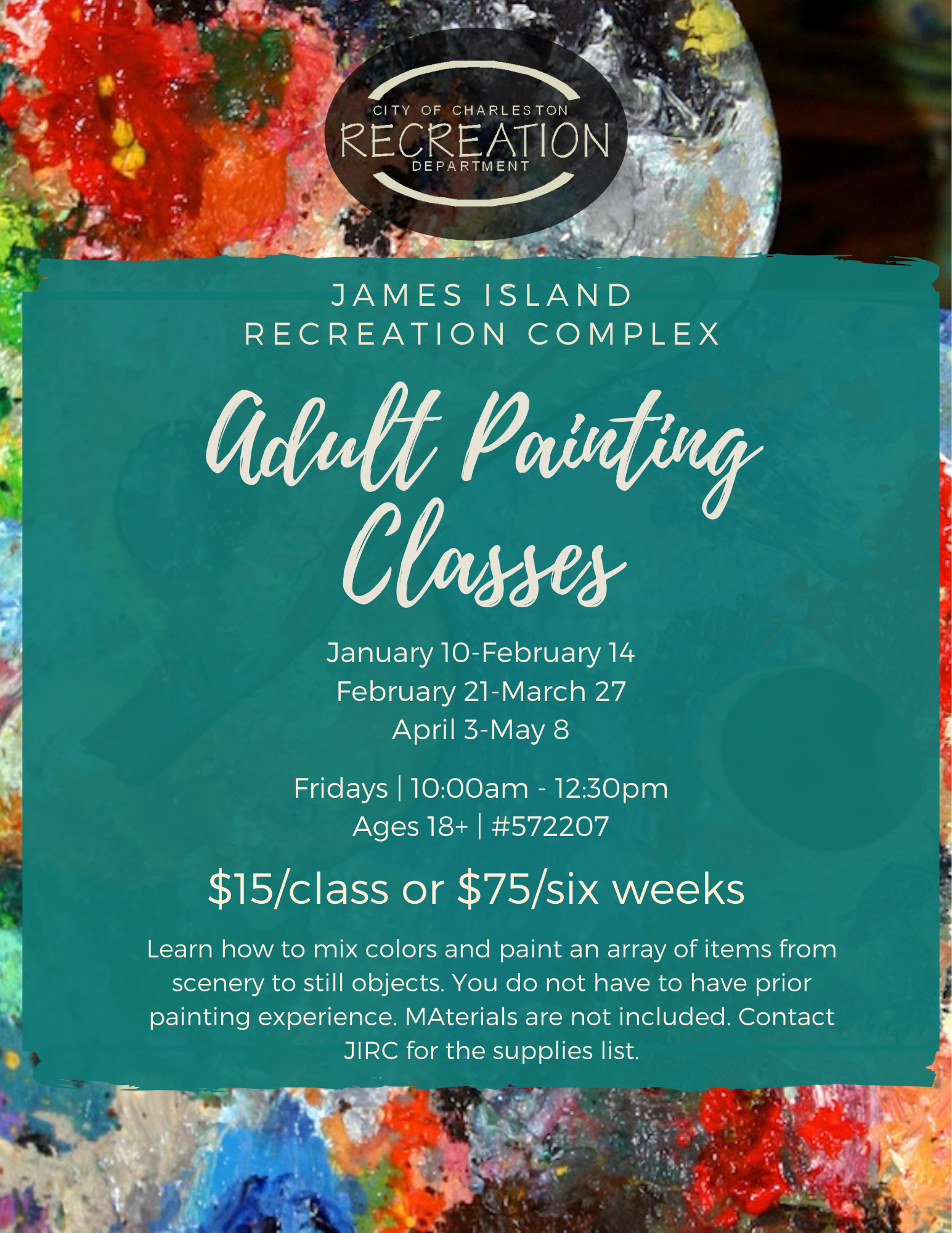 adult painting classes JIRC Opens in new window