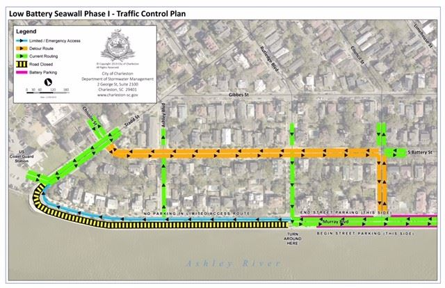 Low Battery Seawall Phase I traffic Control Plan