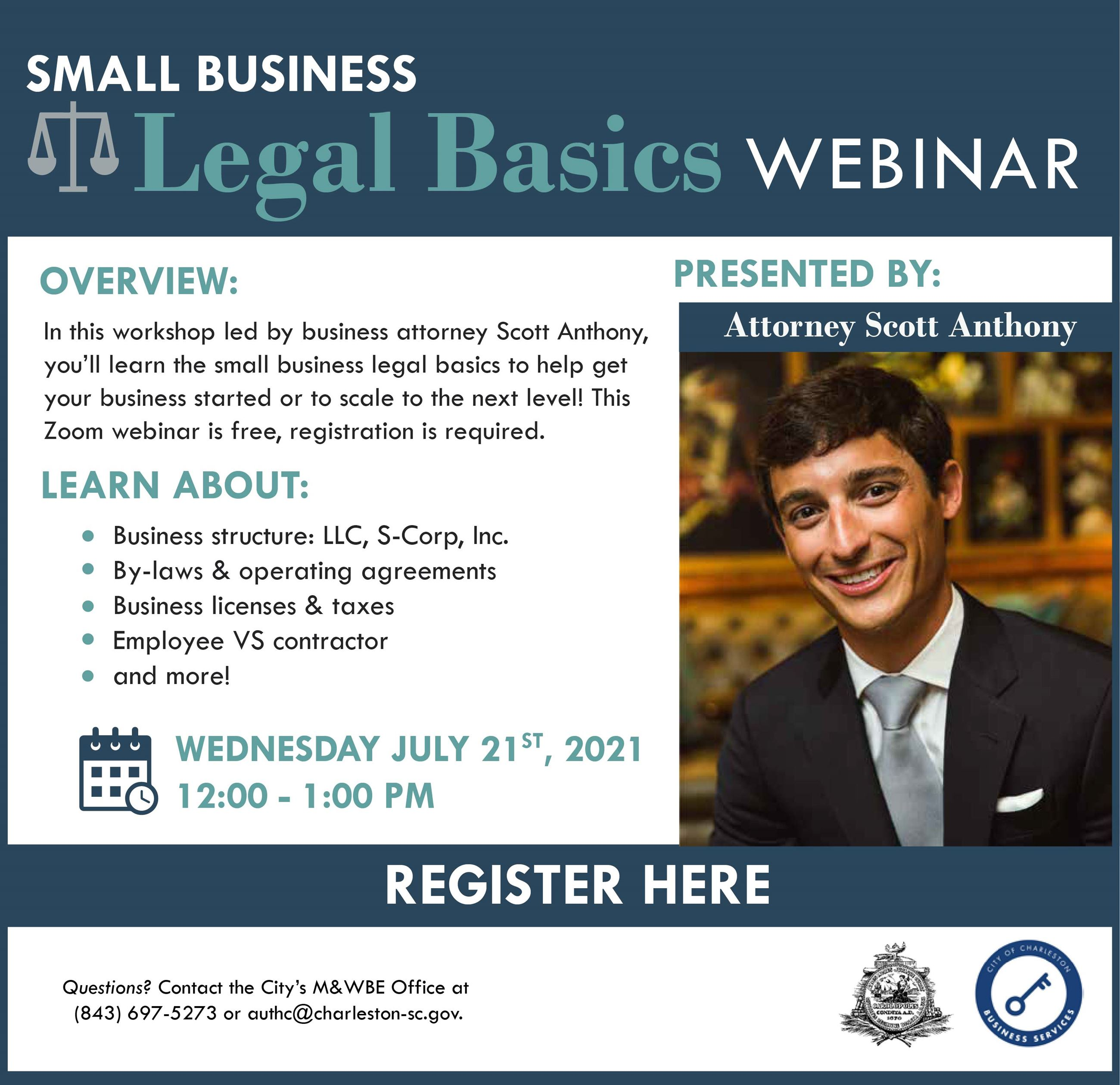 Small Business Legal Basics Flyer Opens in new window