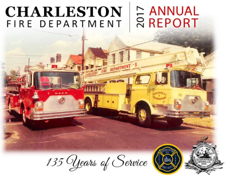 Charleston Fire Department 2017 Annual Report cover Opens in new window