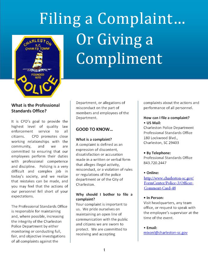 Complaint or Compliment Newsletter.JPG